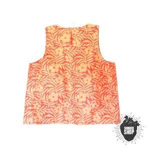 J. Crew Metallic Decorative Sleeveless Floral Top